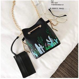 Handbags - Beautiful Cactus Embroidered Bucketbag